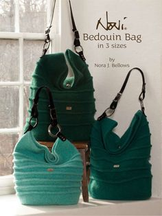 """Noni Bedouin Bag in 3 Sizes can be made felted or unfelted. Pronounced """"Bed-o-win"""", the name refers to nomadic peoples who live in the desert landscapes... on SALE!"""