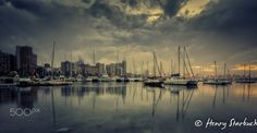 Misty Durban harbour - Never allow weather conditions to keep you indoors, even in rainy, overcast conditions there is beauty to be captured