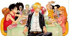 happy sanji oh how i miss that smile