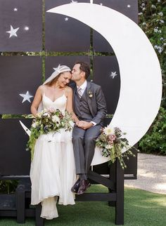 Whimsical Vintage Inspired Garden Wedding at McCormick Home Ranch diy paper moon, bride and groom, whimsical wedding ideas, paper moon wedding… Source by merrimentevents. Diy Wedding Photo Booth, Diy Wedding Veil, Moon Wedding, Celestial Wedding, Wedding Photos, Wedding Ideas, Wedding Themes, Wedding Table, Wedding Styles