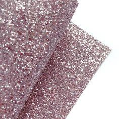 Silver Rose Lux Premium Chunky Glitter Fabric