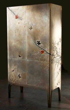 Based Upon - Plum Blossom Cabinet  #metal