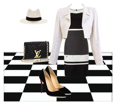 """Black and white"" by chauert ❤ liked on Polyvore featuring Chanel, Christian Louboutin and rag & bone"