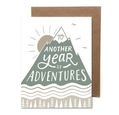 Another Year Of Adventures // Letterpress Card // Birthday Card //  Anniversary Card // Adventure Card // HeartSwell by HeartSwellCo on Etsy https://www.etsy.com/listing/386969438/another-year-of-adventures-letterpress