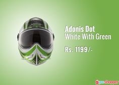 #helmetssafety Adonis Dot White With Green #helmet order now from www.yooshopper.com,http://www.yooshopper.com/product/334/547/adonis-dot-white-with-green?lcId=145431