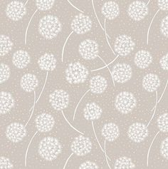 Make a Wish - Dandelions in White on Taupe by Lewis & Irene White Dandelion, Make A Wish, How To Make, Shops, Irene, Fabric Design, Quilt Patterns, Taupe, Dandelions