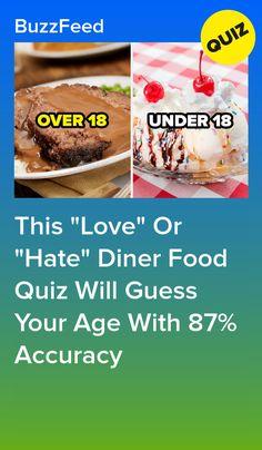 Quizzes For Kids, Quizzes Food, Fun Quizzes, Diner Food, Diner Recipes, Fun Baking Recipes, Food Quiz Buzzfeed, Guess Your Age Quiz, Boyfriend Food