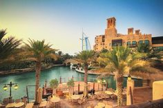 The largest resort in the emirate, spreading across over 40 hectares of PICTURESQUE landscapes and gardens, is designed to resemble a traditional Arabian town. 2 boutique hotels, 29 summer houses, over 40 world class restaurants. BEAUTIFUL Madinat Jumeirah is truly one of the most luxurious resorts! Photograph by © Hussam Haji Bakr, photographer from Syria.
