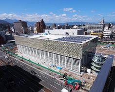 shigeru ban's oita prefectural art museum set to open in Japan in 2015