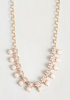 For Flowers on End Necklace. How long will it take for you to fall in love with this petal pink necklace? #pink #modcloth