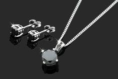 Black Diamond Earrings or Set