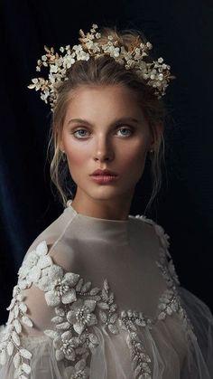 Gold Wedding Crowns, Headpiece Wedding, Bridal Headpieces, Bridal Hair Vine, Bridal Crown, Bridal Beauty, Wedding Beauty, Boho Wedding, Wedding Ideas