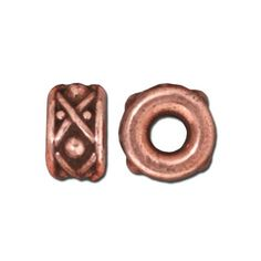 8mm Antique Copper Legend Large Hole Spacer by TierraCast