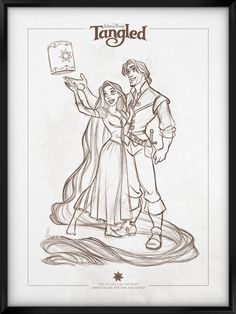 Walt Disney's Signature Collection - TANGLED by davidkawena on deviantART