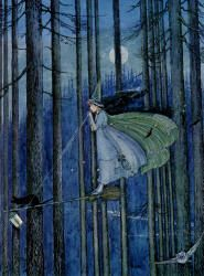 Ida Rentoul Outhwaite - 'The Witch on her Broomstick' from ''The Enchanted Forest'' (1921)