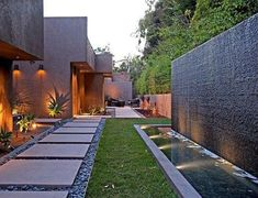 SOLI Channeled Black Granite Installation Image Product: Striated Basalt Soli Architectural Surfaces