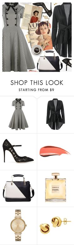"""""""Vintage Style"""" by pokadoll ❤ liked on Polyvore featuring Louis Vuitton, Dolce&Gabbana, Chanel, Michael Kors, Lord & Taylor and vintage"""