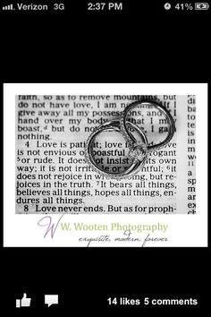 Bible verse and wedding rings