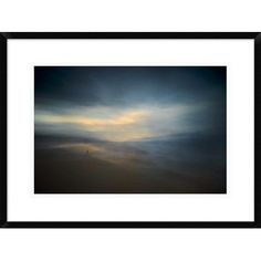 """Global Gallery 'Walk Along the Edge of Nowhere' by Santiago Pascual Buye Framed Graphic Art Size: 20.7"""" H x 28"""" W x 1.5"""" D"""