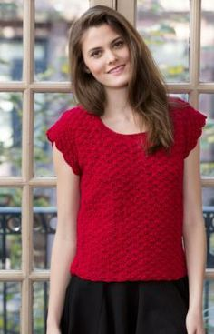 Shell Stitch Top Free Crochet Pattern from Red Heart Yarns