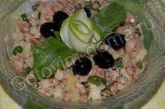 рецепт Постный салат из рыбных консервов с зеленым луком