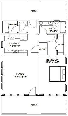 House - - 895 sq ft - Excellent Floor Plans - House Plans, Home Plan Designs, Floor Plans and Blueprints Cottage Floor Plans, Small House Floor Plans, Cottage Plan, Br House, Tiny House Living, Cottage House, Living Room, Barndominium Floor Plans, Barndominium Texas