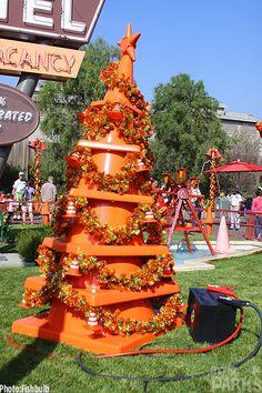 It's a Cars Land Christmas at Disneyland I really want to go to Disneyland at Christmas time!