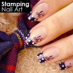 Stamping nail art i want the bow stamp plate thingy.