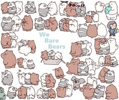 Cute Doodle Art, Cute Doodles, Bear Wallpaper, Kawaii Wallpaper, Cartoon Quotes, Cartoon Art, Bear Sketch, We Bare Bears Wallpapers, We Bear