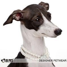 Is Pet Designer Pet Jewelry - Swarovski Crystal Apple Pearl Necklace - Size: M (10