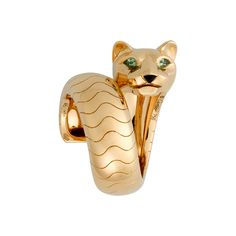 Panthère ring - Yellow gold, tsavorites, onyx - Fine Rings for women - Cartier Cat Jewelry, Gems Jewelry, Bling Jewelry, Jewelry Design, Jewellery, Designer Jewelry, Cartier Panther Ring, Cartier Panthere, Cartier Jewelry