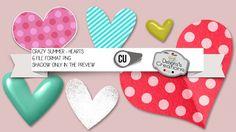 Crazy Summer Hearts by Debora's Creations (CU)