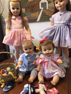 Marla's dolls Johnny Playpal and Dryper Baby