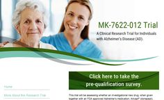 [MK-7622 Alzheimer's Disease Research Trial]  To learn more about an Alzheimer's Disease Research Trial now enrolling at Associated Neurologists, please contact our Clinical Research Department at (203) 748-2551, extension 351 for further information.