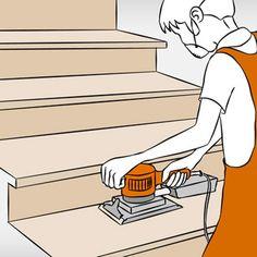 Holztreppe renovieren – Anleitung in 6 Schritten Basement Remodel Diy, Basement Renovations, Home Renovation, Home Remodeling, Wooden Staircases, Wooden Stairs, Home Design Decor, Home Decor Trends, Small Room Bedroom