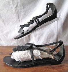 LOEFFLER RANDALL sz 10, Black Samba ChaCha Strappy Sandals, $59 on ebay