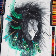 Fabulous Watercolor Pencils works by Finland Artist Jonna Scandy Girl - https://instagram.com/scandy_girl/