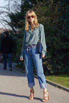 TheyAllHateUs // Boyfriend jeans, scarf belt. 70s inspired.