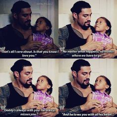 Joe Anoa'i (Roman Reigns) and his six-year-old daughter Joelle