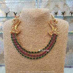 Ruby+Emerald+Step+Necklace+From+BCOS+Its+Silver