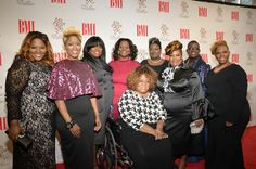 The Anointed Pace Sisters. on the red carpet at 2015 BMI Trailblazer Awards. Photography by Candace Hight