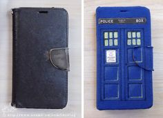 Tardis Phone cover from old T-shirt