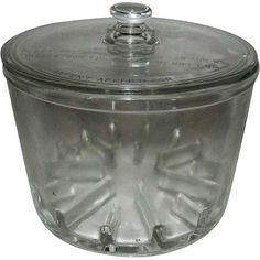 Vintage Cambridge Round Glass Sanitary Cheese Preserver