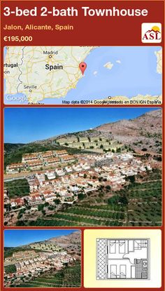 3-bed 2-bath Townhouse in Jalon, Alicante, Spain ►€195,000 #PropertyForSaleInSpain
