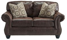 Signature Design by Ashley Breville Espresso Loveseat -- Want to know more, click on the image. (This is an affiliate link) #FurnitureSofasandCouches