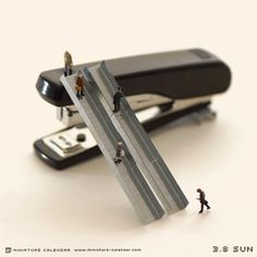 Escalator. Creative miniature photography