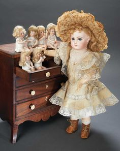 Gorgeous French Bisque Bebe E.J. by Jumeau in Fine Antique Costume