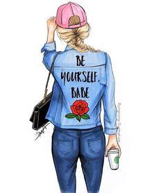 "LINE BOTWIN ""girly illustrations"" #chic #fashion #girly #illustration #rongrongillustration"