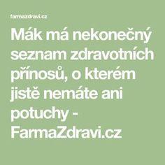 Mák má nekonečný seznam zdravotních přínosů, o kterém jistě nemáte ani potuchy - FarmaZdravi.cz Math Equations