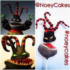 Nightmare Before Christmas Harlequin Demon monster cakepop by NoeyCakes